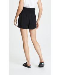 HATCH Black Easy Smocked Shorts