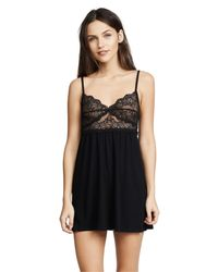 Only Hearts - Black So Fine Baby Doll Chemise - Lyst