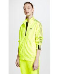 Alexander Wang Yellow Aw Jacquard Zip Up