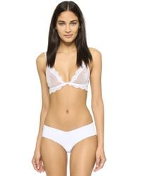 Only Hearts - White So Fine Lace Bralette - Lyst