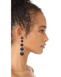 Kate Spade - Blue Precious Poppies Bauble Drop Earrings - Lyst