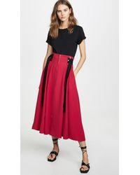ADEAM Red Zip Up Skirt