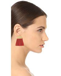 Madewell | Multicolor Half Moon Fringe Earrings | Lyst