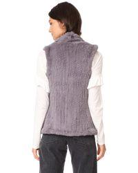 June - Multicolor Classic Shawl Vest - Lyst