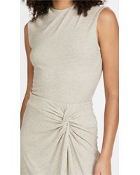 Vince Natural Draped Neck Shell Top