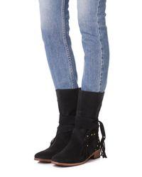 See By Chloé - Black Dasha Flat Boots - Lyst