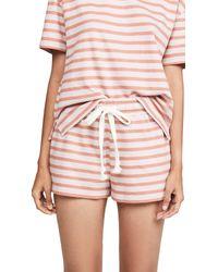 Madewell Pink Pocky Sleep Shorts