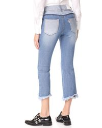 SJYP - Blue Cutoff Jeans - Lyst