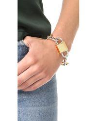 Alexander Wang - Metallic Broken Link Bracelet - Lyst