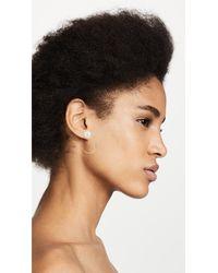 Rebecca Minkoff - Metallic Sophia Imitation Pearl Topped Small Hoop Earrings - Lyst