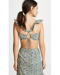 6 Shore Road By Pooja Green Floral Top