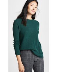Autumn Cashmere - Green Reversible Crossover Cashmere Sweater - Lyst