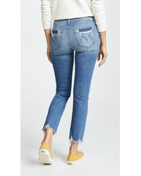 Mother - Blue The Rascal Ankle Chew Jeans - Lyst