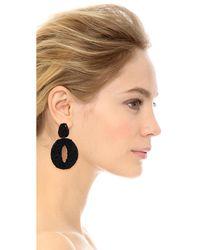 Oscar de la Renta - Black Classic Oscar O Earrings - Lyst