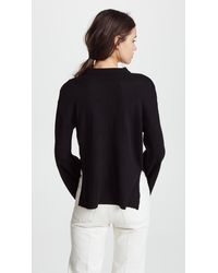 Cupcakes And Cashmere Black Pullover With Rose Design