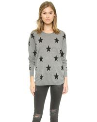 Zoe Karssen - Gray Loose Fit Straight Stars Sweater - Grey Heather - Lyst