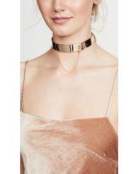 Eddie Borgo Metallic Safety Chain Choker Necklace