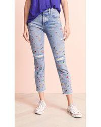 AO.LA by alice + olivia Blue Girlfriend Jeans