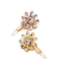 For Love & Lemons Metallic Crystal Daisy Hair Pin