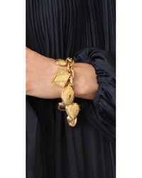 Ben-Amun - Metallic Gold Chain Locket Pendant Bracelt - Lyst
