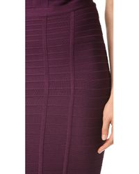 Hervé Léger - Purple Skirt - Lyst