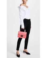 Furla Pink Metropolis Small Top Handle Bag