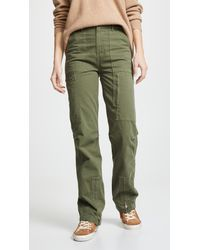 Re/done Green High Rise Cargo Pants