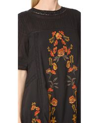 Free People - Black Perfectly Victorian Dress - Lyst