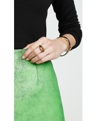 Kate Spade Metallic Lip Statement Ring