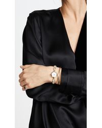 Kate Spade Metallic Crystal Star Bracelet Watch, 21mm