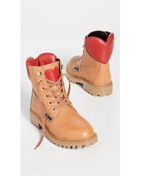 Moschino Multicolor Lace Up Boots