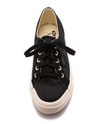Superga The Man Repeller X Satin Classic Sneakers Black