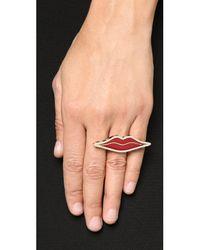 Holly Dyment - Multicolor Enamel Lip Ring - Lyst