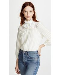 See By Chloé White Natural Blouse