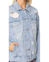 Free People - Blue Sunday Funday Trucker Jacket - Lyst