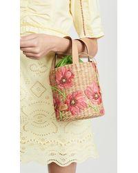 Frances Valentine Multicolor Small Spring Flower Bucket Bag