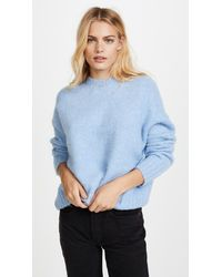 8964fdcdd9b9ce Helmut Lang Brushed Crew Pullover in Blue - Lyst