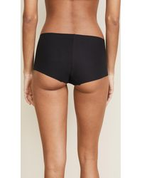 Commando - Black Cotton Boy Shorts - Lyst