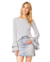 Free People - Gray Good Find Top Stripe - Lyst