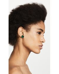 Kate Spade - Green Small Square Stud Earrings - Lyst