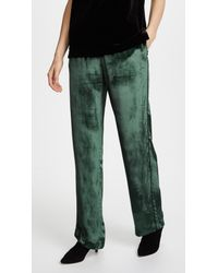 J Brand - Green Ardon Velvet Wide-leg Pants - Lyst