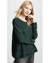 Wilt Green Rolled Edged Sweatshirt