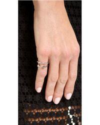 Vita Fede Metallic Ultra Mini Titan Crystal Band Ring