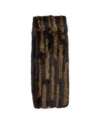 Jocelyn - Black Knitted Fur Infinity Scarf - Lyst