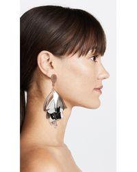 Oscar de la Renta - Multicolor Large Impatiens Earrings - Lyst