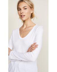 Splendid - White Very Light Jersey Scoop Neck Tee - Lyst