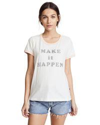 Sol Angeles - White Make It Happen Ringer Tee - Lyst