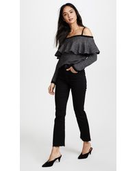 BB Dakota Gray Debeney Ruffle Sweater
