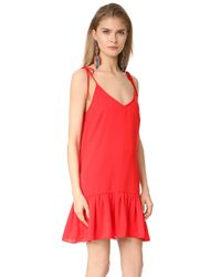 Amanda Uprichard Red Odessa Dress