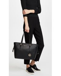 MICHAEL Michael Kors | Black Voyager Tote | Lyst